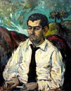 Retrato de Gamoneda realizado por el pintor Manuel Jular.