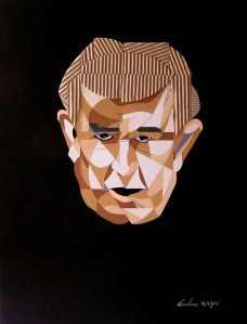 Retrato de Gamoneda realizado por Laetitia Gavilanes y Miguel Ángel León