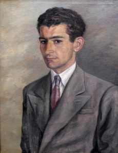 Retrato de Gamoneda realizado por su amigo Jorge Pedrero.