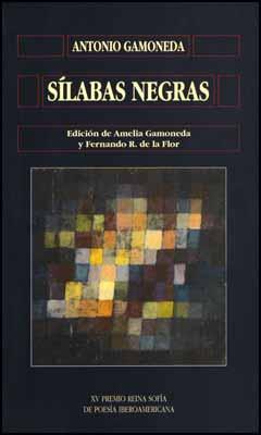 """Portada de """"Sílabas negras"""", de Gamoneda."""