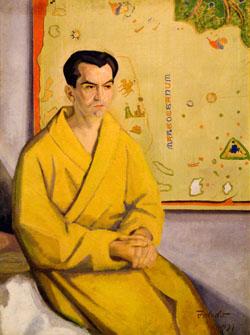 García Lorca en un retrato del pintor Gregorio Toledo.
