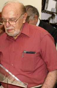 Pablo de la Varga, en la inauguración de la exposición Visión del Frío, en julio de 2007.
