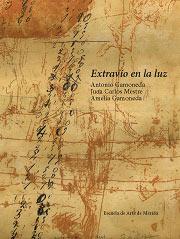 """Portada de la carpeta """"Extravío en la luz"""", de Antonio Gamoneda."""