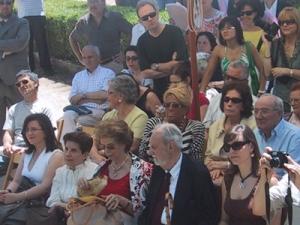 Úrsula Rodríguez y Antonio Pereira en la Fiesta de la Poesía de Villafranca del Bierzo.