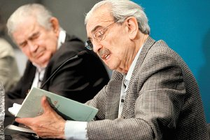 Gamoneda con Juan Gelman.