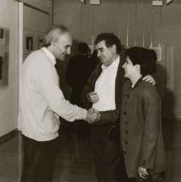 Gamoneda y Angelines con Eduardo Chillida.