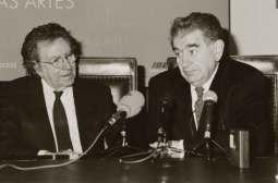 Gamoneda con Antoni Tàpies.