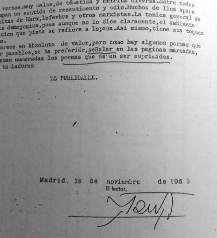 """Acta lector """"don 29""""."""
