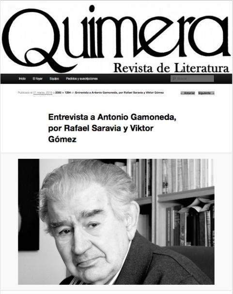 Revista Quimera.
