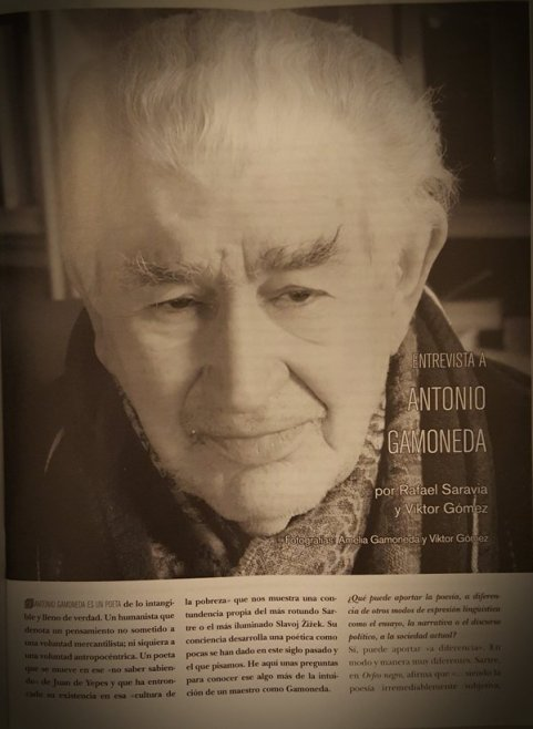 Gamoneda en el nº 389 de la revista Quimera.