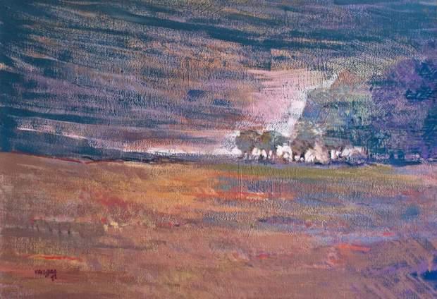 Un cuadro del pintor leonés Alejandro Vargas.