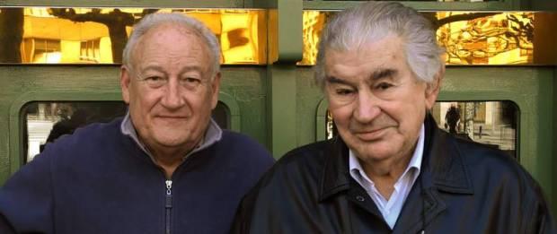 Alejandro Vargas con Antonio Gamoneda.