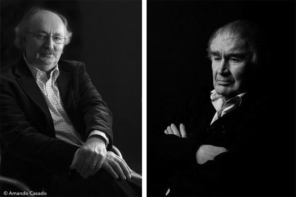 Antonio Colinas y Antonio Gamoneda. © Fotografías: Amando Casado.