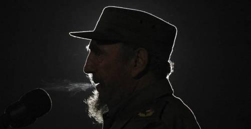 El líder cubano Fidel Castro en una imagen tomada el 4 de febrero de 2006 durante un discurso pronunciado en la Plaza de la Revolución de La Habana. © Fotografía: Agencia EFE.
