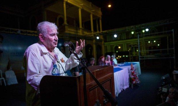 El poeta Antonio Gamoneda, participando en uno de los recitales. Foto: EFE/END.