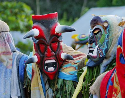 Máscaras de la tribu Maleku.
