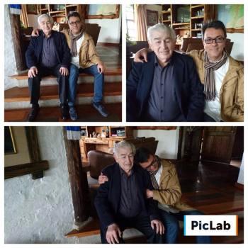 Gamoneda en Ecuador, con Xavier Oquendo Troncoso. (Fotos tomadas del Facebook de Xavier Oquendo Troncoso).