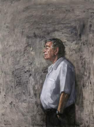 Retrato de Antonio Gamoneda, pintado por el artista Rafael Sánchez Carralero.