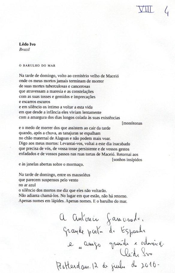 Poemas Dedicados A Gamoneda Faro Gamoneda
